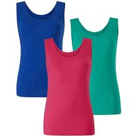 Cobalt/ Pink/ Green Pack of 3 Vests