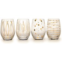Mikasa Cheers Stemless Wine Glasses.