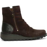 Fly London Mong Suede Wedge Ankle Boots