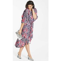 Simply Be Printed Velvet Knot Dress.