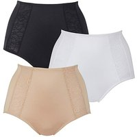 Magisculpt 3Pk Firm Control Midi Briefs at JD Williams Catalogue