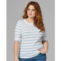 Blue Stripe Rib Top