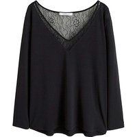 Violeta By Mango Lace Detail T Shirt
