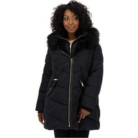 Oasis Padded Coat With Faux Fur Hood