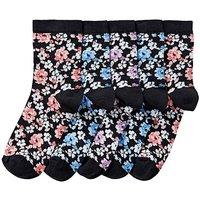 5 Pack Floral Ankle Socks