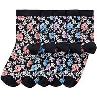 5 Pack Floral Ankle Socks