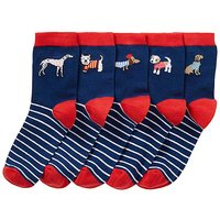 5 Pack Dog Ankle Socks-wide Fit