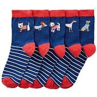5 Pack Dog Ankle Socks