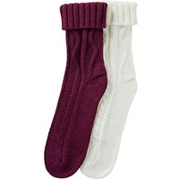 2 Pack Cable Knit Socks