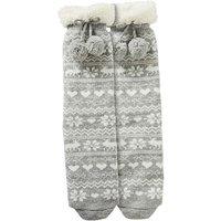 1 Pack Slipper Socks With Pom Poms