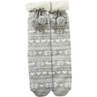 1 Pack Slipper Socks With Pom Poms