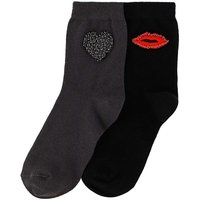 2 Pack Beaded Love Socks