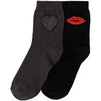 2 Pack Beaded Love Socks