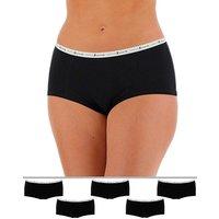 5 Pack Pretty Secrets Marl Banded Shorts