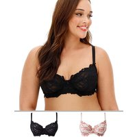 2pack Lily Lace Minimiser Bras