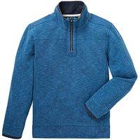 Mantaray Blue GB Pique Sweat Zip Hoody