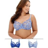 2pack Chrissie Emb Full Cup Bras