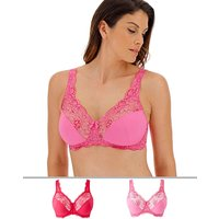 2pack Ella Lace Nonwired Pink Multi Bra
