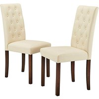 Grace Faux Leather Pair of Chairs.
