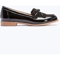 Patent Contrast Sole Loafer Standard Fit