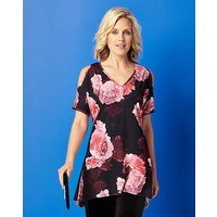Cold Shoulder Jersey Tunic Top