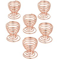 Copper Egg Cups Set of 6