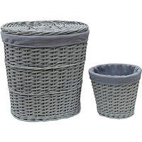 Set of 2 Split Wood baskets Two Tone