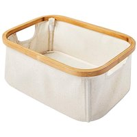 Bamboo & Canvas Storage Box