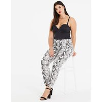 Pink Clove Snake Printed Trousers