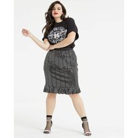 AX Paris Sequin Fit and Flare Skirt