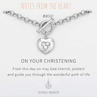 On Your Christening Heart Bracelet