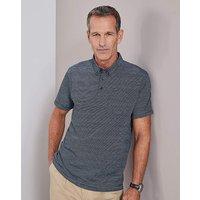 Navy Stripe Polo Shirt Regular