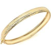 9Ct Gold Diamond Cut Bangle