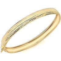 9Ct Gold Diamond Cut Bangle.