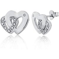 Sterling Silver & Diamond Heart Studs at JD Williams Catalogue