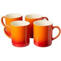 Graduated Tankard Mugs Pack of 4 Orange