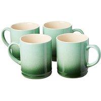 Graduated Tankard Mugs Pack of 4 Green