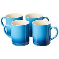 Graduated Tankard Mugs Pack of 4 Blue