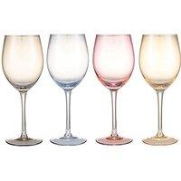 Colour Tint Wine Glasses Set of 4