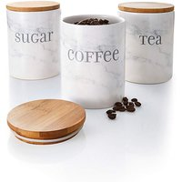 Marble-effect Set of 3 Canisters