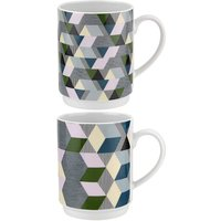 Portmeirion Geometrics Stacking Mugs