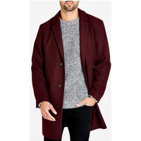 Burgundy Mix Crombie Coat