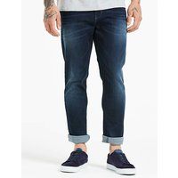 Jacamo Indigo Tapered Coated Jeans 35in