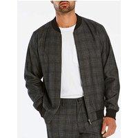 Black Label Check Bomber Jacket L