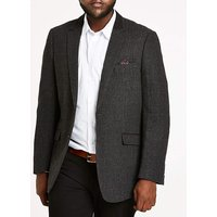 Grey Check Tweed Blazer Long