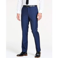 Navy Slim Textured Dinner Trousers L