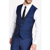 'Navy Slim Fit Dinner Suit Waistcoat