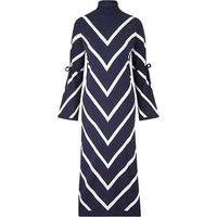 Petite Roll Neck Chevron Dress at JD Williams Catalogue