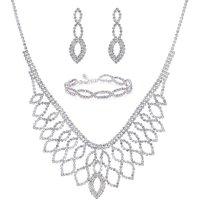 Mood Silver Diamante Jewellery Set