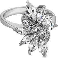 Jon Richard leaf crystal cluster ring